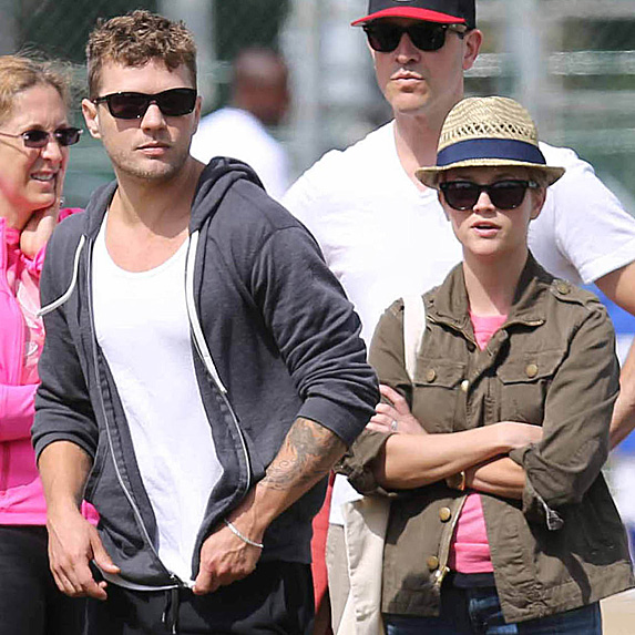 Ryan Phillippe, Reese Witherspoon and Reese's husband, Jim Toth