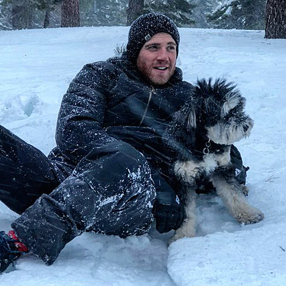 Bryan Greenberg and dog Ewok