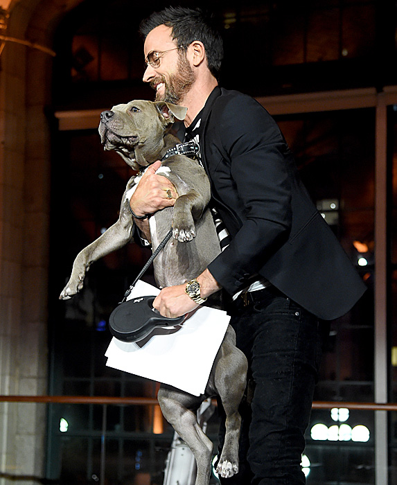 Justin Theroux and dog Kuma