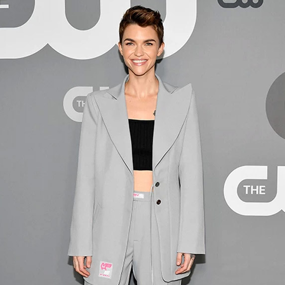 Ruby Rose in a suit