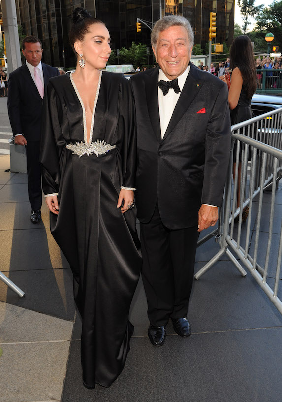 Lady Gaga and Tony Bennett arrive to an event in New York in 2014 to promote their collaborative album