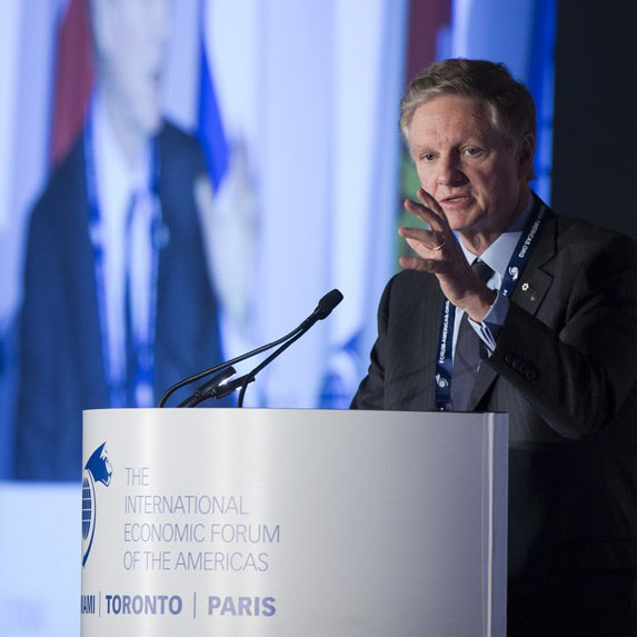 Paul Desmarais Jr., chairman and co-chief executive officer of Power Corp. of Canada at an event