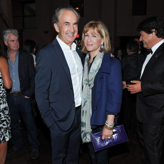 Gerry Schwartz and Heather Reisman at an event