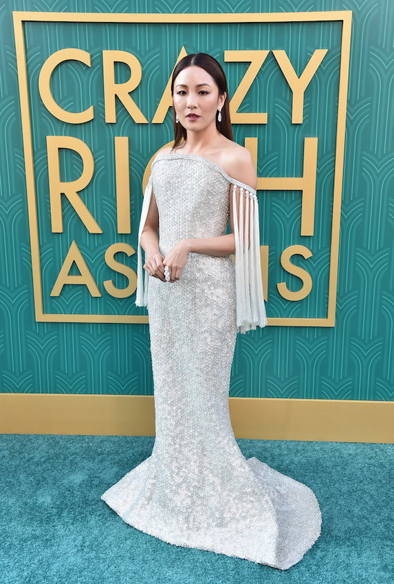 Constance Wu attends a movie premiere
