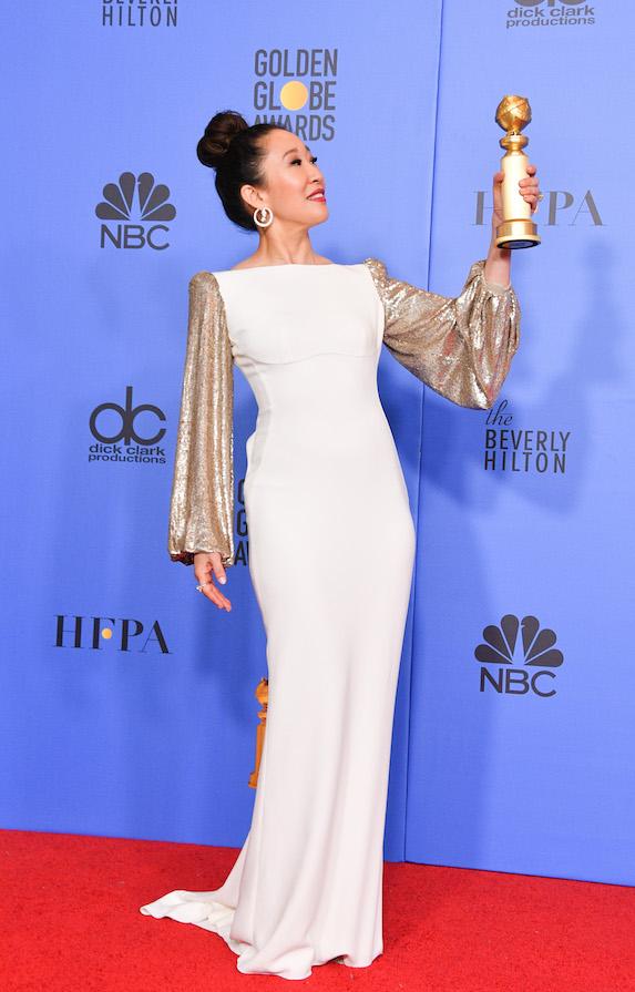 Sandra Oh at the 2019 Golden Globe Awards