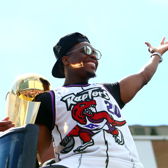 Kyle Lowry at Toronto Raptors Parade