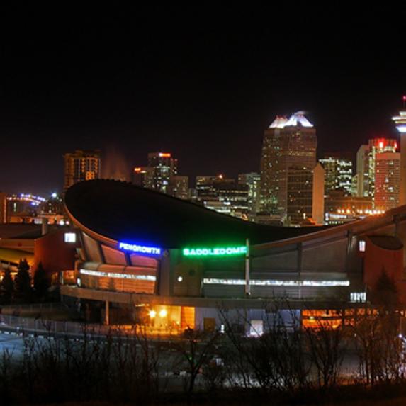 the city of Calgary at night
