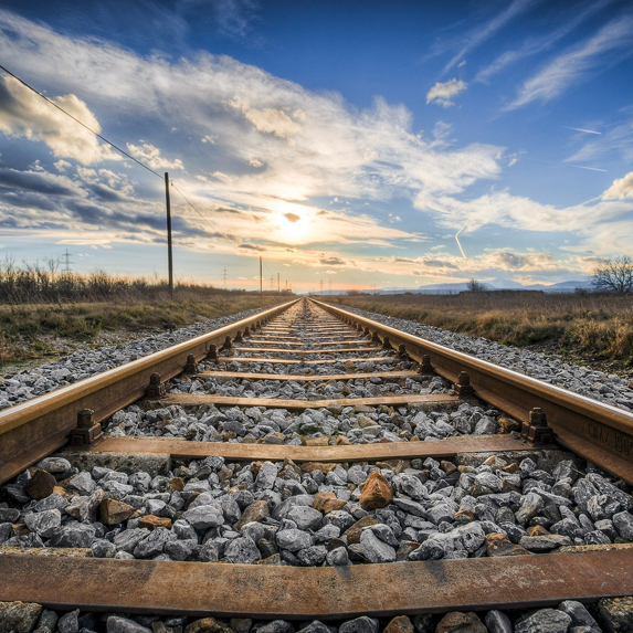 an empty train track