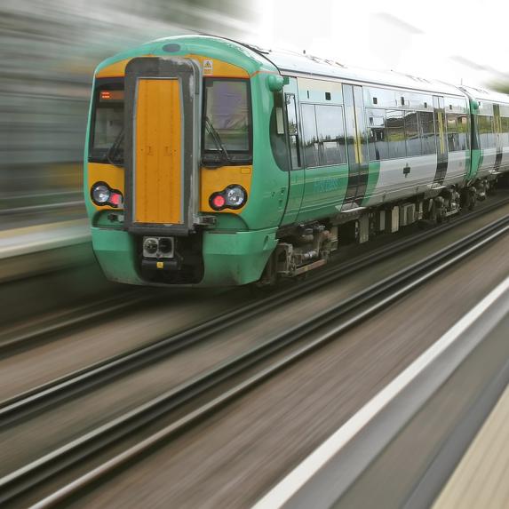 a speedy green locomotive