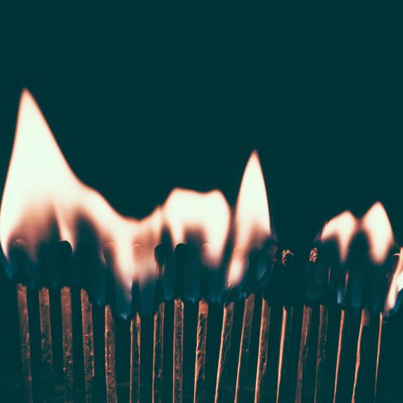 lit matches