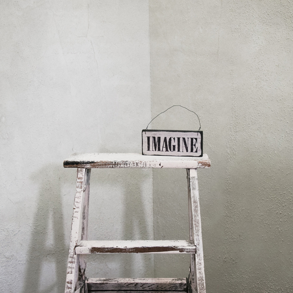 a ladder painted white