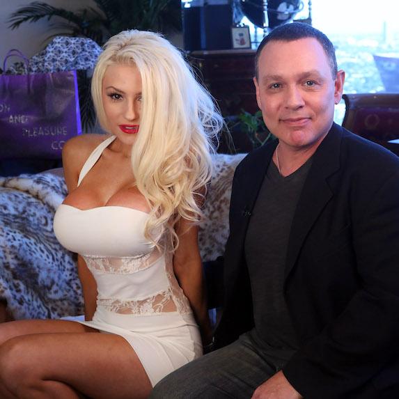 Courtney Stoddard and Doug Hutchison