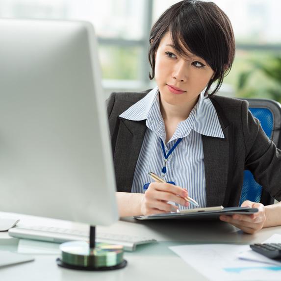 Chartered accountant working
