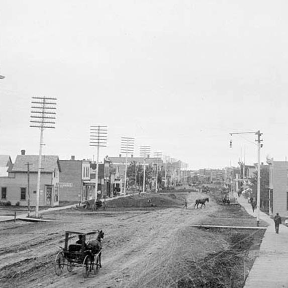 Jasper Avenue in Edmonton in 1896