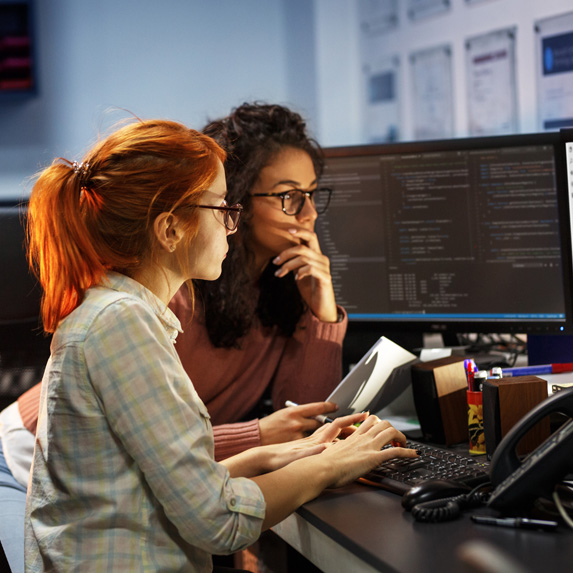 IT coordinators at work