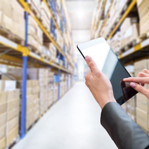 Logistics coordinator in warehouse