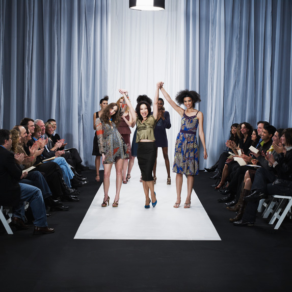 Retail buyers at fashion show