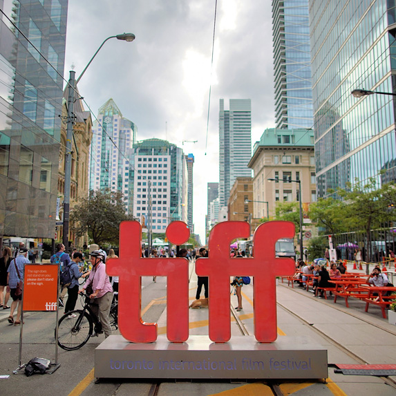 TIFF sign on King Street in Toronto