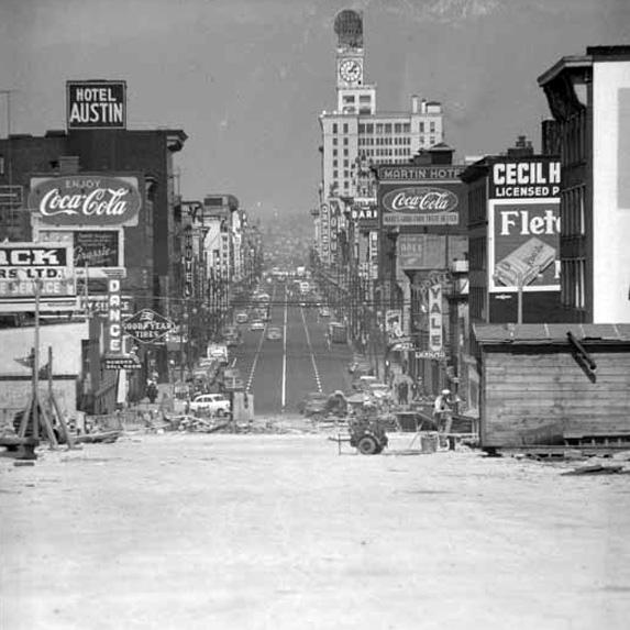 Granville Street in Vancouver, 1954