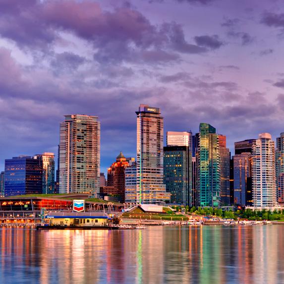 Vancouver modern skyline