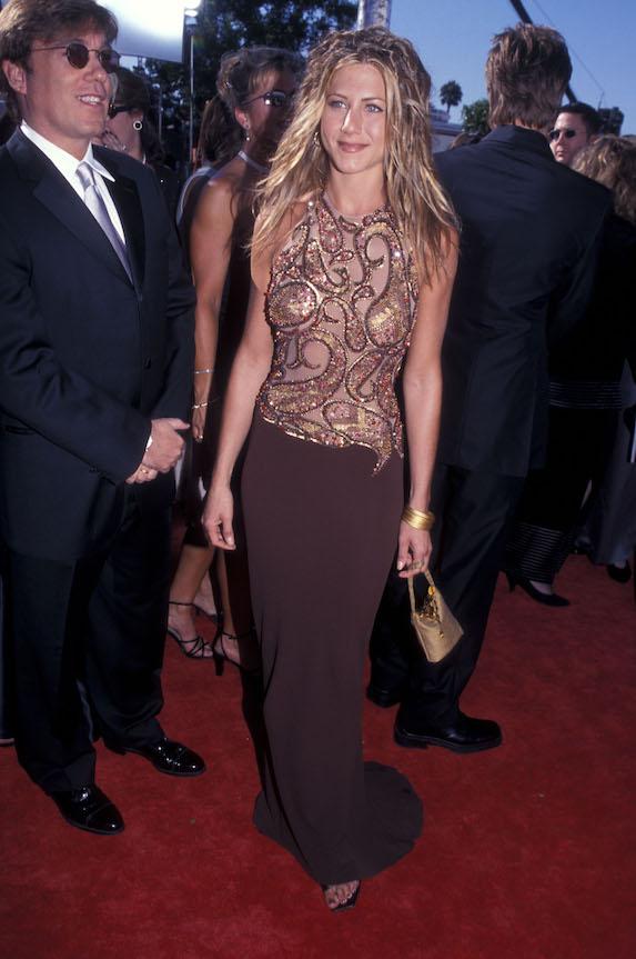 Jennifer Aniston attends the 1999 Emmy's