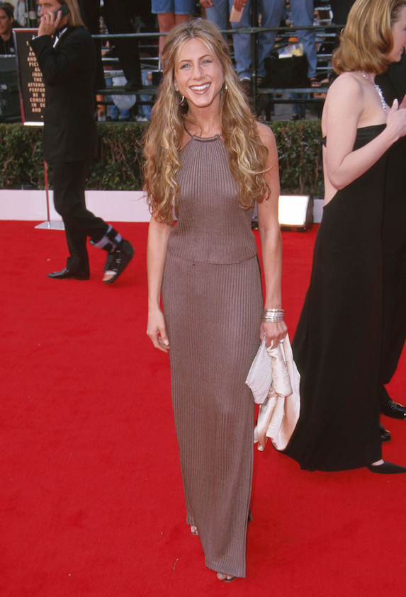 Jennifer Aniston attends the SAG Awards in 2000