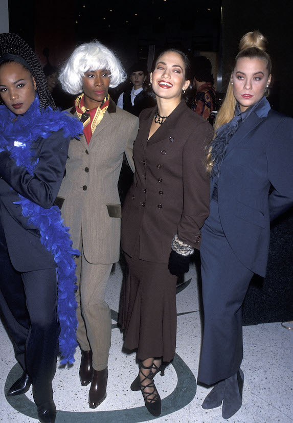 "Jennifer Lopez with fellow ""Fly Girls"" in 1992"