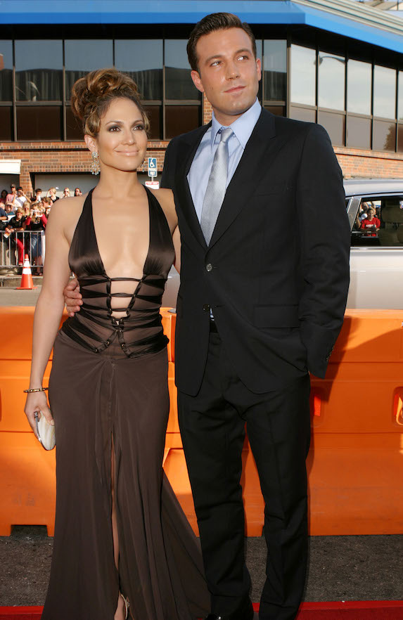 Jennifer Lopez with Ben Afleck at a 2003 movie premiere