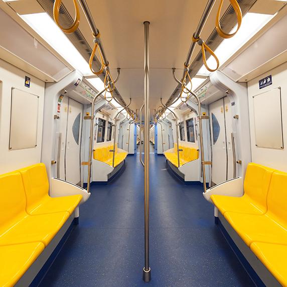 On public transit