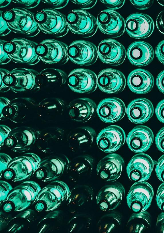 Empty bottles to earn money recylcing