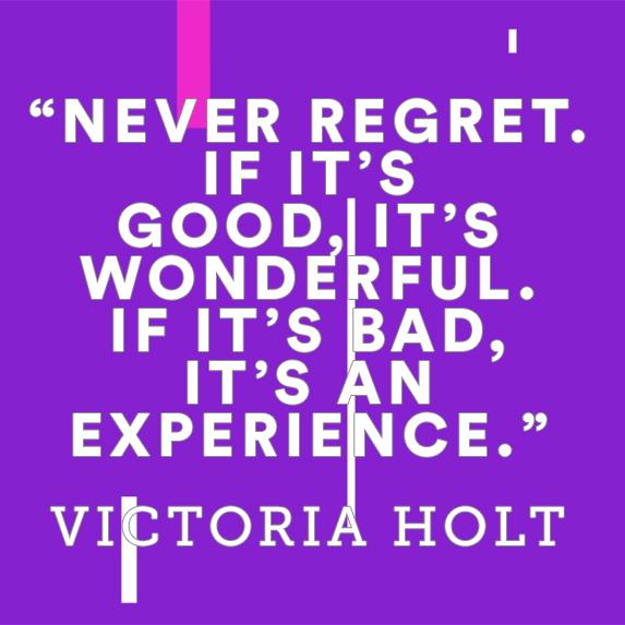 no regrets inspirational quote