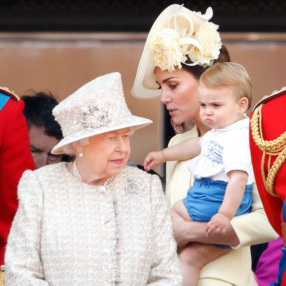 The Queen and Prince Louis