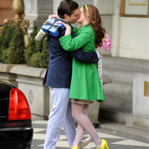 Ed Westwick as Chuck Bass and Leighton Meester as Blair Waldorf on Gossip Girl