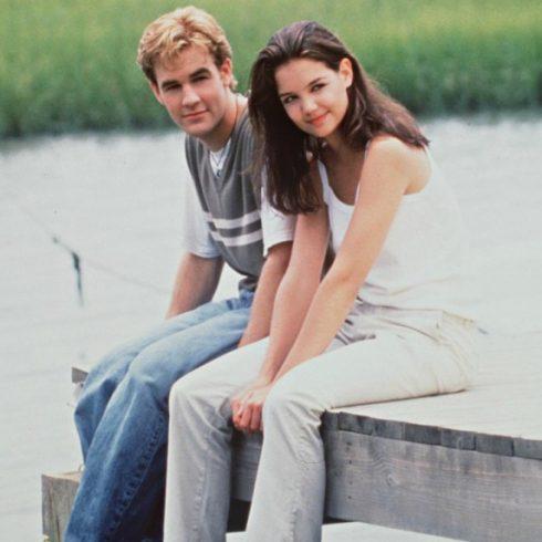 James Van Der Beek and Katie Holmes as Dawson and Joey
