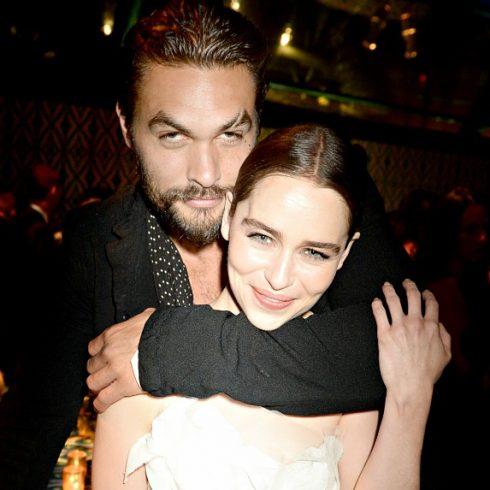 Game of Thrones stars Jason Momoa and Emilia Clarke