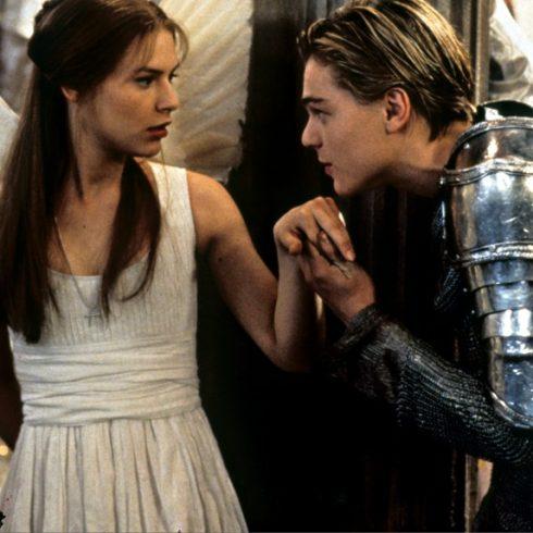 Claire Danes as Juliet and Leonardo DiCaprio as Romeo