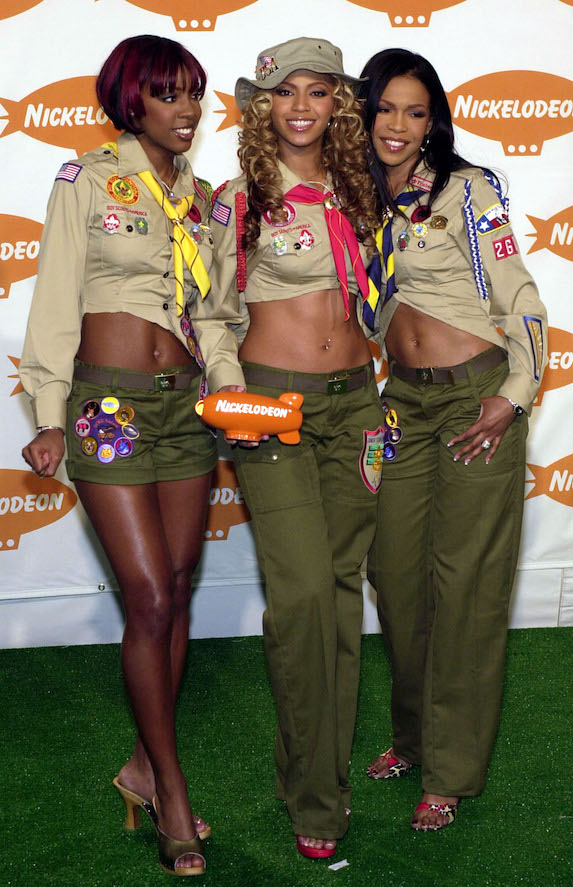 Beyonce with the rest of Destiny's Child at the 2001 Nickelodeon Kid's Choice Awards