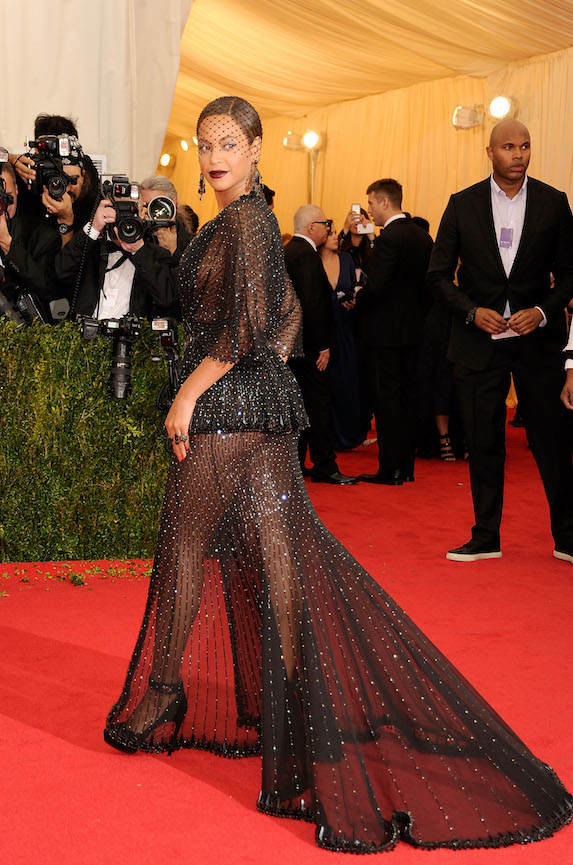 Beyonce wears a sheer black gown for the 2014 MET Gala