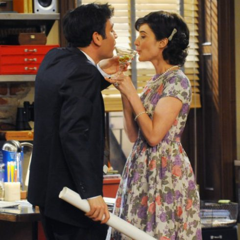 Josh Radnor as Ted and Cobie Smulders as Robin on How I Met Your Mother