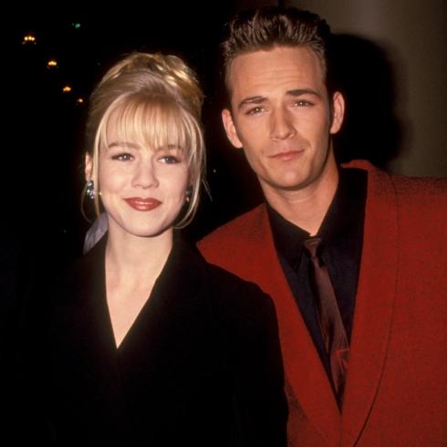 Beverly Hills, 90210 stars Jennie Garth and Luke Perry