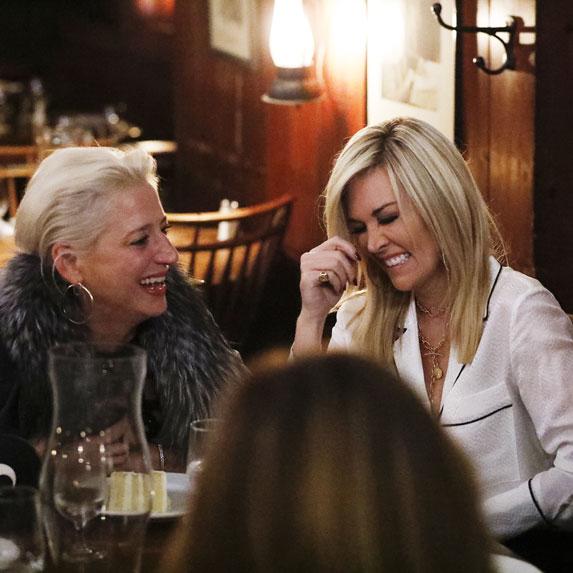 Dorinda Medley and Tinsley Mortimer laughing