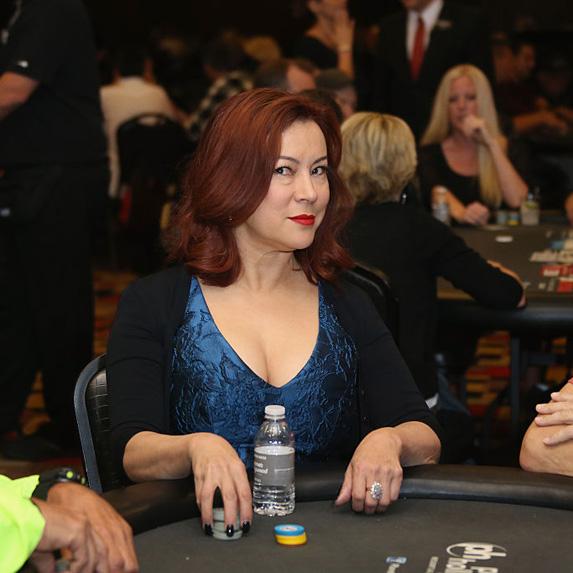 Jennifer Tilley playing poker