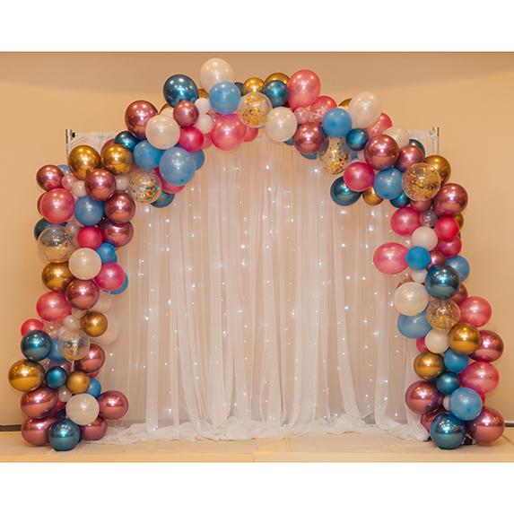 Rainbow arch decoration