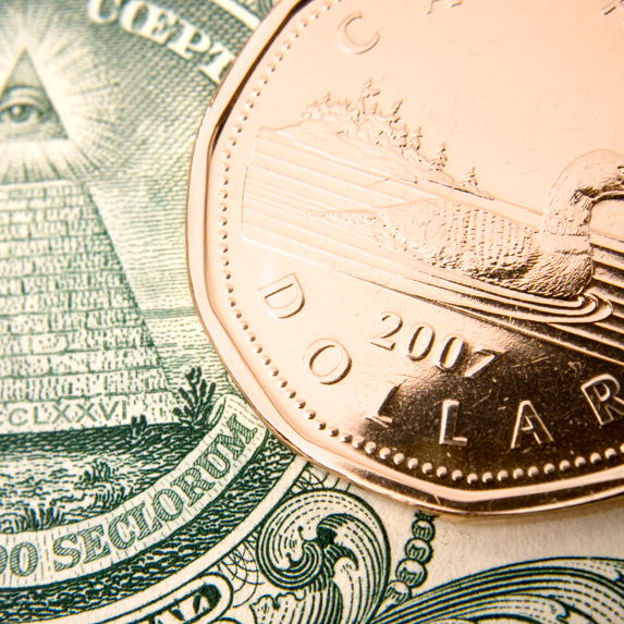 Loonie and a dollar
