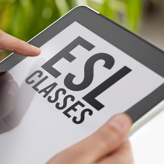 ESL class on a tablet