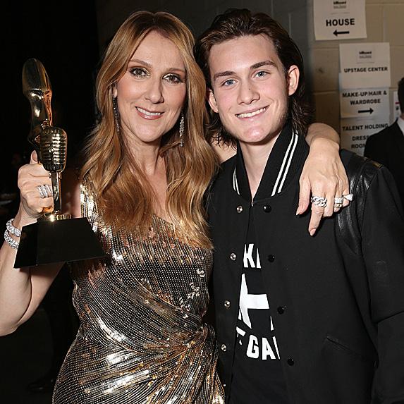 Céline Dion and son René-Charles Angélil