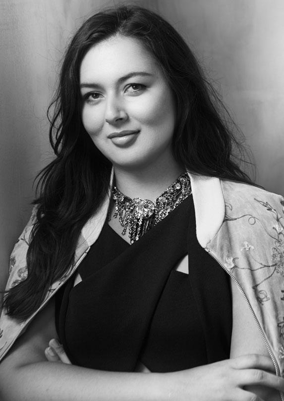 Canadian designer Lesley Hampton poses for a headshot