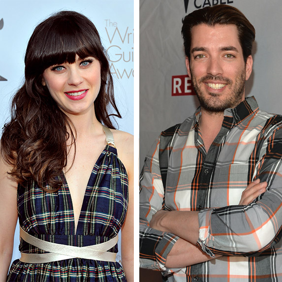 Zooey Deschanel and Property Brothers Jonathan Scott