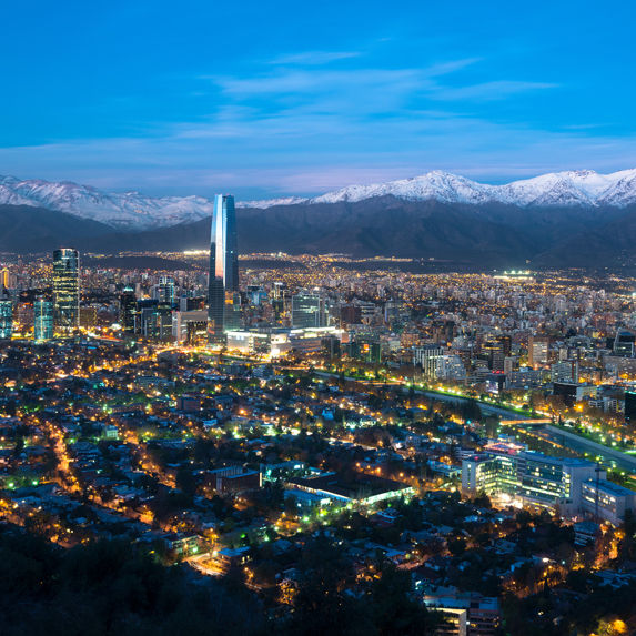 Chile in the evening