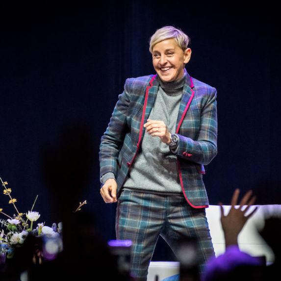 Ellen DeGeneres on-stage